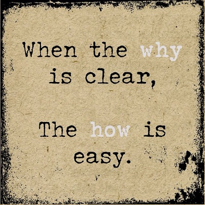 when the why is easy